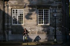 Evening (Julysha) Tags: evening people man bike thenetherlands noordholland enkhuizen town windows lantern shadow d850 2019 nikkor70300afp acr summer june