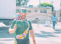 (CarbonNYC [in SF!]) Tags: alc la rob cyclist finishlinefestival finisher green pinwheel portrait ride