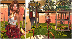 It's Just Another Lonely Day On The Playground (Hanna ☾ Luna) Tags: fashion style secondlife background backdrop lop playground young playful outfit swank designershowcase