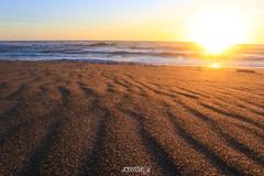 Lines in the sand (J0nnyM) Tags: nature sunset sun sand surf water ocean wind lines sunlight sunrays oregon coast coastline usa america dusk