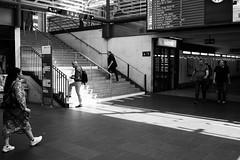 Everybody is busy (astrogator) Tags: sbb bahnhof railway station blackandwhite schweiz switzerland olten