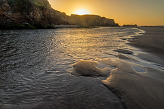 Pescadero State Beach, CA (explored) (j1985w) Tags: california oc beach rocks water waves sunset pescadero explore explored