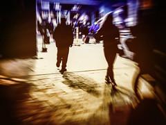 Strangers (Natalia Medd) Tags: people motion blur color walking airport iphone8plus