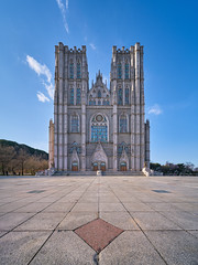 Kyung Hee Grand Auditorium (Scintt) Tags: sky dramatic travel tourist attraction exploration skyline cityscape city urban modern structures architecture scintillation scintt jonchiangphotography iconic surreal epic wideangle glow light tones korea evening tall towers seoul gate tourism sony a7rii golden warm yellow 12mm laowa stitched panorama gothic church auditorium kyunghee university school ground floor pattern texture old historical building imposing monolith blue clear
