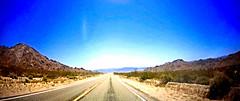 Amboy Road (EmperorNorton47) Tags: sanbernardinocounty california mojavedesert photo digital spring highway road desert panorama n46dashcam vanishingpoint hills cropped videocapture n56dashcam