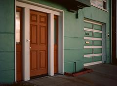 Sunset District, San Francisco, California (bior) Tags: pentax645nii pentax645 pentax 645 mediumformat 120 sanfrancisco sunsetdistrict portra160nc expiredfilm kodakportra house door garage