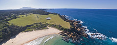 On a clear day (OzzRod) Tags: dji phantom3advanced quadcopter drone fc300s stitch panorama coast shoreline ocean beach headland cattle grazing seatons gulaga nswfarsouthcoast dailyinjune2019
