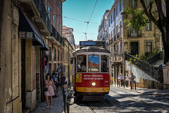 The historic number 28 tram in Lisbon (Norbert Clausen) Tags: tram strasenbahn 28 lisboa lisbon lissabon oldtown street