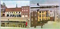 Sur les quais au bord de la Lys, Kortrijk (Courtrai) Flandre Occidentale, Belgium (claude lina) Tags: claudelina belgium belgique belgië kortrijk courtrai flandreoccidentale river rivière lys