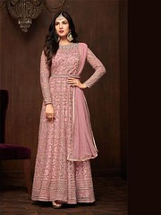 New Arrival Partywear Pink Nylon Net Anarkali Salwar Suit (zeelpin) Tags: event exclusive zeelpin demand wedding special sales morden partywear purchase latest style traditional tranding colourful branding currant royalty glamor popular glamour discount b4ufashion fashionhub indianfashion look