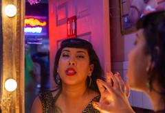 Burlesque HoF Weekend (Meteorseeker) Tags: models femalemodel malemodel burlesquehalloffame canon canon5dmkii canonphotography lasvegas downtownlasvegas rebar davyslocker reflections tikibar flashphotography flash depthoffield props drinks blackandwhite monochrome nevada neon retrovegas pretty tattoo