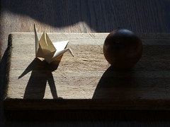 Good Morning (ART NAHPRO) Tags: paper crane origami shadows orb ball sussex weald wealden june 2019