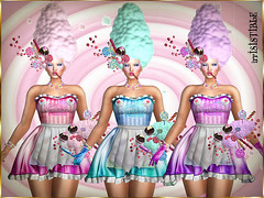 COTTON CANDY MESH OUTFIT SCRIPTED + HAIRS + 3 COLORS HUD 2 (irrISIStible shop) Tags: swank event irrisistible shop fashion design hairs candy carnival fair sweet dress mesh outfit clothes licorice sl secondlife second life fantasy fest roleplay rp cotton cupcakes shoes maitreya belleza slink hourglass appliers stockings gloves
