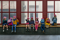 Colourful trip II (jefvandenhoute) Tags: belgium belgië antwerp antwerpen centralstation centraalstation school colors