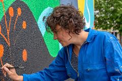 Fresque SOIA-171 (Mairie de Colomiers (compte officiel)) Tags: artiste colomiers soia sophie fresque peinture valdaran