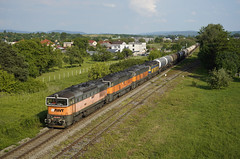 753704 Lucenec (Gridboy56) Tags: awt goggle 753 753704 753712 753723 753733 pn47818 ostrava locomotive locomotives wagons cargo diesel freight europe railways railroad railfreight trains train slovakia lucenec
