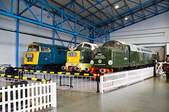Classic Traction (daveymills37886) Tags: nrm national railway museum d1023 class 52 western fusilier 55002 koyli 55 deltic d200 40 40122