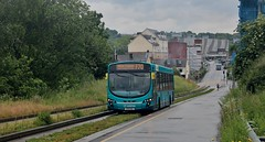 KX11 OSE, Arriva Volvo, Luton, 8th. June 2019. (Crewcastrian) Tags: luton buses busway transport arriva volvo wright kx11ose 3893