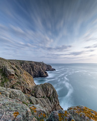 Les Landes Long Exposure. (miketonge) Tags: longexposure sea tower nikon rocks cliffs jersey channelislands heathland nisi wehrmacht stouen leslandes grosnez grosnezpoint miketongephotographycouk moltketower sunset d850