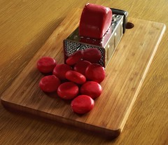 Magic Grater (Mr_Pudd) Tags: cheeseboard nikkor nikond750 nikon redwax wax red cheesegrater grater lancasterbomber cheese babybel