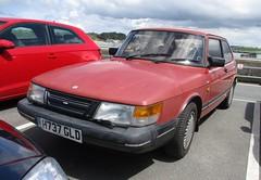1991 Saab 900 XS Auto (occama) Tags: h737gld 1991 saab 900 red faded old car cornwall uk swedish sun