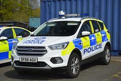 SF68 AGU (S11 AUN) Tags: police scotland ford kuga 4x4 rural patrol panda car incident response vehicle irv 999 emergency sf68agu