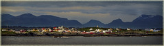 Bjornsund,(Norway) (williamwalton001) Tags: norway pentaxart colourimage clouds church mountains fjords timber buildings sky landscapephoto