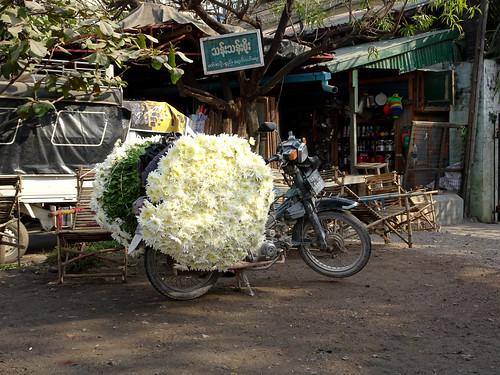 The sweetest smelling motorbike in Myanmar