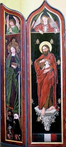 IMG_1200KZDHA Maitre des Ronds de Cobourg.  Master of the Cobourg Rounds  Fin du 15è siècle. Strasbourg.  Retable de Sainte Marguerite. Dijon. Musée des Beaux Arts