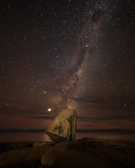 Rock Star (djryan78) Tags: night samyang14mm landscape astrophotography australia samyang outdoor canon bicheno 6d travel stars longexposure seascape tasmania milkyway dslr canon6d