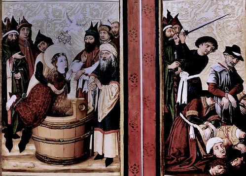 IMG_1200KZDG Maitre des Ronds de Cobourg.  Fin du 15è siècle. Strasbourg Retable de Sainte Marguerite. Dijon. Musée des Beaux Arts
