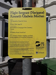 D-Day 75 Commemoration Plaque to Flight Sergeant (Navigator) Kenneth Gladwin Meehan (graham19492000) Tags: portsmouth