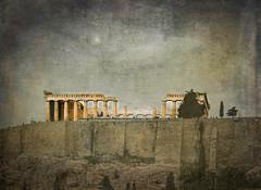 The Parthenon (judy dean) Tags: judydean 2019 lensbaby textures ps parthenon acropolis rock stone 36ontheedge