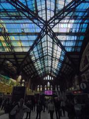 Liverpool St Station in London (Steve Taylor (Photography)) Tags: liverpoolst london trainstation glass metal people foliage uk gb england greatbritain unitedkingdom silhouette texture