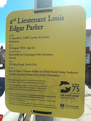 D-Day 75 Commemoration Plaque to 2nd Lieutenant Louis Edgar Parker (graham19492000) Tags: portsmouth