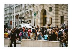 FILM - Wall Street bull (fishyfish_arcade) Tags: 35mm analogphotography canonsureshotz135 filmphotography filmisnotdead istillshootfilm kodak newyork portra400 analogcamera compact film wallstreet streetphotography