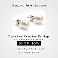 Cream Pearl Color Stud Earrings Adorned with Crystals from Swarovski® (SterlingSilverJewelry1) Tags: pearls pearlsjewelry swarovski swarovskijewelry swarovskipearls uniquejewelry londonjewellery studearrings uniquedesign fashionjewels fashionjewellery fashionjewelery luxuryjewelry luxuryjewellery luxuryjewels jewellerymaker jewelleryart wholesale silver jewelrymaker oneofakindjewelry oneofakindjewellery swarovskielements swarovskicrystals fashionista fashionblogger fashionstylist jewelryforher