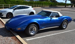 CHEVROLET Corvette C3 Stingray Cabriolet - 1974 (SASSAchris) Tags: chevrolet corvette c3 stingray cabriolet 10000 tours castellet circuit ricard voiture américaine httt htttcircuitpaulricard htttcircuitducastellet