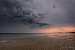 Cloud Invasion! (karindebruin) Tags: brouwersdam nederland netherlands ouddorp zuidholland beach lowtide noodweer reflectie reflection strand water