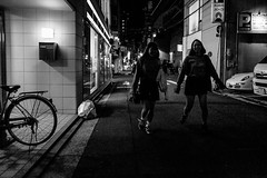 Hiroshima - Fukuromachi - Hondori (-dow-) Tags: japan hiroshima 日本 giappone 広島 monochrome bike bicycle fujifilm x70 bicicletta hondori fukuromachi