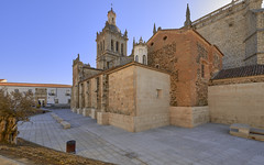 Catedral de Coria (neoBIT) Tags: ancient arcboutant arch architecture archivolt basilica bell blue centre cityscape columns cornice dramatic exterior externaldecoration façade finial flyingbuttress frieze heritage landmark parvis picturesque pilgrimage relics rosewindow scenic square street tower veneration wife sky gothic coria extremadura spain