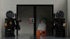 Joker's Cell (KoyoteKB) Tags: joker lego arkham asylum guard prison mental deranged batman