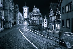 The frayed edges of a vanishing dream (Jim Nix / Nomadic Pursuits) Tags: europe germany jimnix lightroom luminar macphun nomadicpursuits rothenburg sony sonya7ii blackandwhite highcontrast monochrome nightimage travel