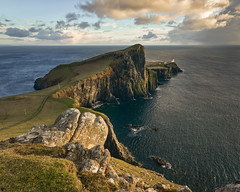 Between squalls (Malajusted1) Tags: neist point isle skye highlands scotland lighthouse sea ocean atlantic worlds edge rocks waves clouds sunset loneliness winter weather