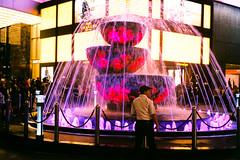 (Hem.Odd) Tags: kualalumpur malaysia fountain night guard securityguard mall olympusxa3 agfavista400