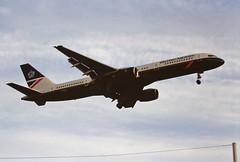 G-BIKZ B757 British airways LHR 19-06-93 (cvtperson) Tags: gbikz boeing 757 british airways london heathrow lhr egll
