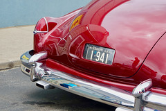Custom 1941 Cadillac (mrgraphic2) Tags: indianapolis indiana car custom classic licenseplate red taillights shiny 1941 cadillac bumper