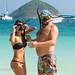 Couple on a coral island, Phuket, Thailand