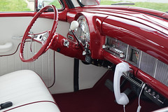 Custom car interior (mrgraphic2) Tags: indianapolis indiana car custom classic interior wheel red dash
