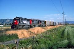 Four Axle Speedsters (jamesbelmont) Tags: southernpacific stlouissouthwestern cottonbelt riverton utah draper kcoaf automobiles train railroad railway locomotive